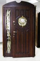 Двері вхідні двополі з ковкою